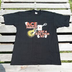 Vintage Kiss Paul Ace Frehley 1993 Tour T Shirt Rock Band Tee Poker Made In Usa