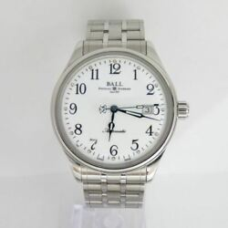 Free Shipping Pre-owned Ball Watch Train Master Nm3288d-sj-wh Limited
