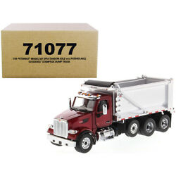 Peterbilt 567 Sffa Tandem Axle With Pusher Axle Ox Stampede Dump Truck Red An...