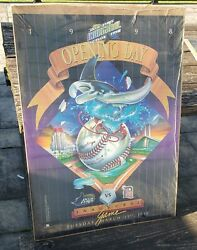 Rare 1998 Tampa Bay Devil Rays Opening Day Inaugural Game Poster Detroit Tigers