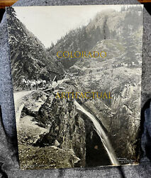 Otto Mears Red Mountain Toll Road Bear Creek Falls Oversized Photo Jackson 1880