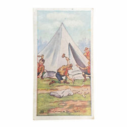 Scout Gum Advertising Trading Cards Early 1900s Antique Boy Scouts Pitching Tent