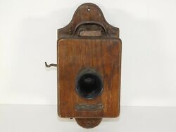 Antique 1880's Russell Tomlinson Wood Train Telephone Receiver Western Electric