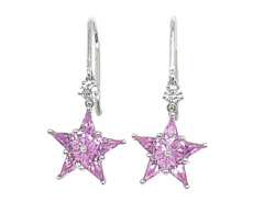 And Co. Pink Sapphire And Diamond Star Earrings