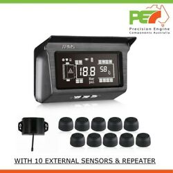 Pec-tpms 10 Wheel Real Time Tire Pressure Monitoring System Forrvs Andtrucks