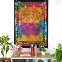 Indian Cotton Dorm Decor Wall Hanging Tapestry Lady Angle Wall Poster Tapestries