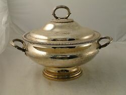 Soup Tureen/ Punch Bowl Silver Plated Medium Size English Marked C-1850 Clean