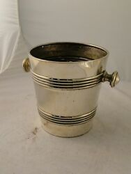 Ice Bucket, Wine Cooler, Art Deco, Silver Plated, French 1930, Marked, Stylish