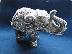 Sterling Silver Miniature, Elephant, Hand Made, 1890 India Medium Size