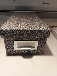 Globe-weis Index Card File Box Black Agate For 1000 3x5 Cards Smead Index Packs