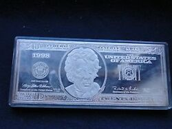 Sterling Silver 20 Bill American Novelty Paper Weight 1960s Marked Rare