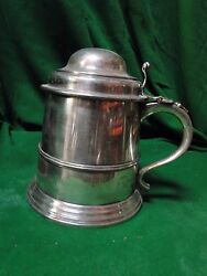 Extra Large Beer Mug/ Stien/ Tankard, Silver Plated Antique, 1890, Large Piece