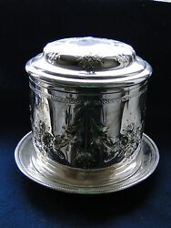 Silver Plated Biscuit Box G.r.collis Chased And Engraved Top Quality Antique