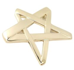 Rare Vintage And Co 18k Gold Star Picasso Large Brooch Pendant 1984