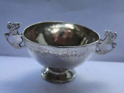 Miniature African Silver Dish Sterling Marked 1880 Antique, Pure African Art