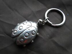 Sterling Silver Miniatures Lady Bird Key Ring Top Quality Little Piece