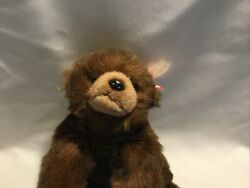 """Ty Toy 1996 12"""" Baby Paws Plush Brown Bear Retired with Tags"""