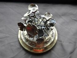Chinese Miniature Sterling Silver Gilt, Flowers, Great Item, Marked 1880