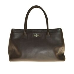Executive Tote Bag Soft Caviar Skin With Pouch Brown Re _29705