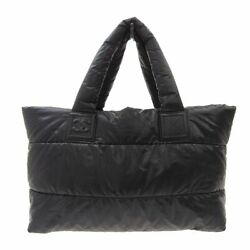 Cocococoon Tote Bag Nylon Black Sv Metal Fittings 13th Unit Second _29962