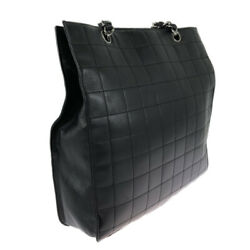 Chain Tote Pouch Chocolate Bar Black Razor Bag Skd Secondhand _32516