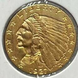 Gold Quarter Eagles 2 1/2 Indian Head 1927 Not Certified