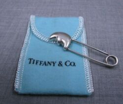And Co. .925 Sterling Silver Man In The Moon Diaper Lapel Pin W/ Pouch 31