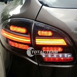For Porsche Cayenne Led 2011-2014 Taillights Assembly Dark Led Rear Lamps Pp12