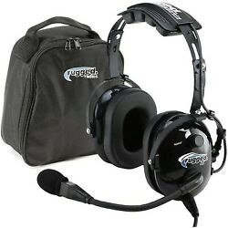 Rugged Air Ra200 General Aviation Pilot Headset Features Noise Reduction... New