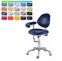 Dental Stool Assistant Chair Pu Leather Qy 600 With Armrest Height Adjuatble