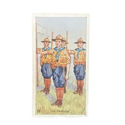 Scout Gum Advertising Trading Cards Early 1900s Antique Boy Scouts On Parade