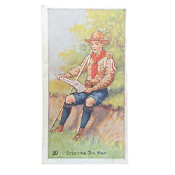 Scout Gum Advertising Trading Cards Early 1900s Antique Boy Scouts Studying Map