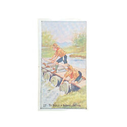 Scout Gum Advertising Trading Cards Early 1900s Antique Boy Scouts Barrel Bridge