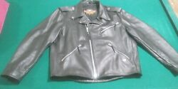 Harley Davidson Leather Jacket Mens Xl Made In U.s.a. Slightly Used Ca 03402