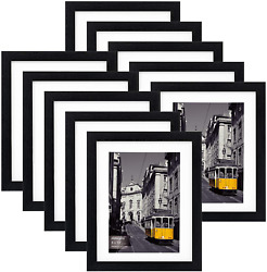 Eletecpro 8x10 Picture Frames Set Of 10display 4x6 Or 5x7 Photo Frame With Mat