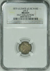 1835 Ngc Ms65+ Bust Half Dime Super Original Gem Clean As Any Ms66 Out There