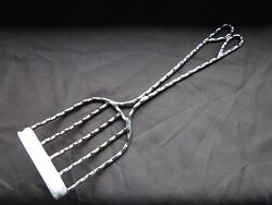 Antique Fork Serving Piece Silver Plated Nice Twisted Handle Design 1890