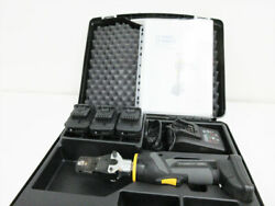Panduit Ct-2500/l Hydraulic Crimping Tool 1.7 Ton W/ Ct-2504ch Crimp Head And Case