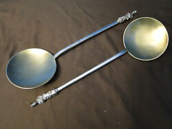Pr Apostle Serving Spoons Sterling Silver In Sheffield 1877-dixon And Sons Antique