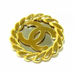 Brooch Metal Material Gold Silver Coco Mark Secondhand _35509