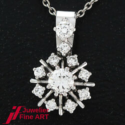 Pendant In White Gold With Brilliance Approx. 090 Ct Tw-vsi - 0.0952oz