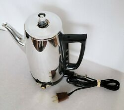 Vintage General Electric Immersible Coffee Percolator Maker 9 Cups Tested Works