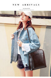 Durable Large Capacity Women#x27;s Backpack Leather Laptop Knapsack Casual Popular $31.23
