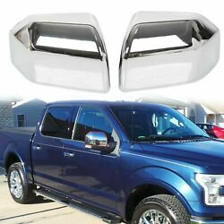 For Ford F-150 F150 2015-2020 Mirror Cover Skull Cap Front Lh And Rh Set Chrome