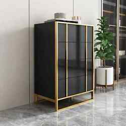 Modern Home Storage Accent Cabinet Tall Organizer With 4-drawer Chest Pantry