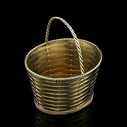 And Co Antique Silver-gilt Basket For Treats Or Sweets