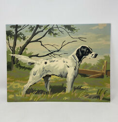 Vintage Paint By Number Painting Hunting Retriever Dog English Setter 16andrdquox12andrdquo