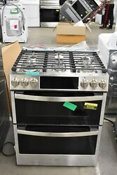 Ge Pgs960selss 30 Stainless Slide In Double Oven Gas Range 90292