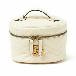 Gg Marmont Mini Bkpk 598594 White Women And039s Backpack Day Pack Second _39357