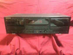 Vintage Kenwood Kx-w4050 Stereo Dual Cassette Deck Powers On But Does Not Play
